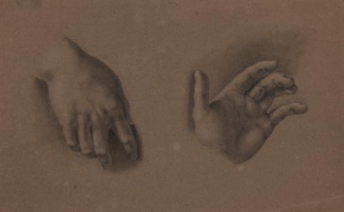 Estudio de mano izquierda y mano derecha