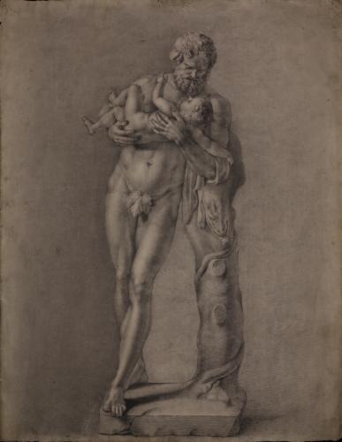 Estudio del Sileno con Dionisos niño