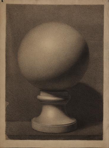 Estudio de esfera sobre peana