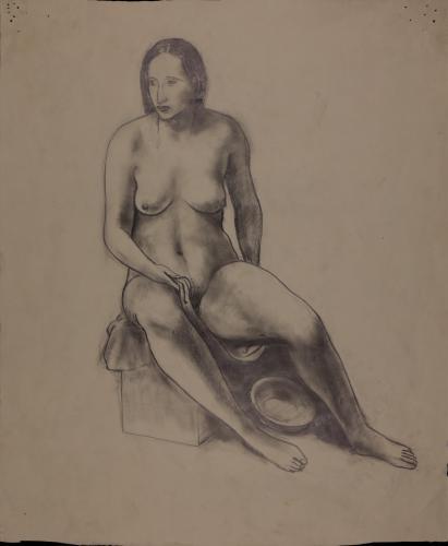 Estudio de modelo femenino sentado