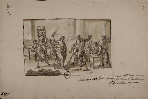 Estudio de Jesúcristo expulsa a los mercaderes del templo