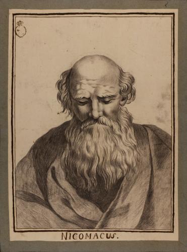 Estudio de la cabeza del llamado Nicomaco, de la Escuela de Atenas de Rafael