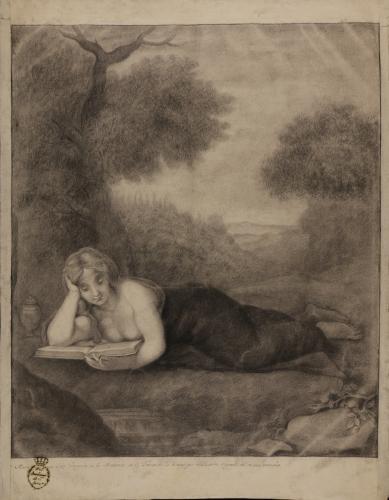 Estudio de la Magdalena leyendo de Correggio