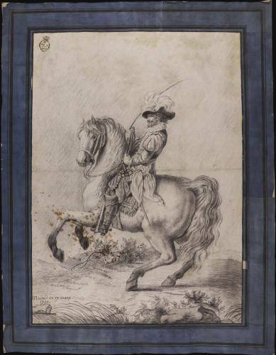 Estudio de militar a caballo