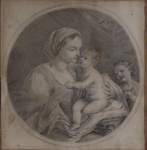 Estudio de Virgen con el Niño y San Juanito