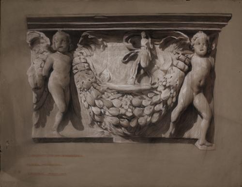 Estudio de  un fragmento de relieve de un sarcófago
