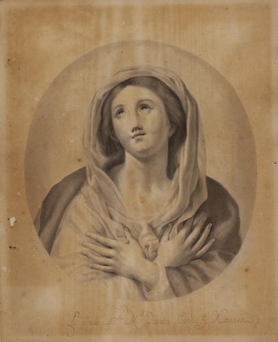 Estudio de la Inmaculada de Mengs