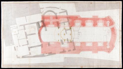 Planta estratigráfica de la iglesia de los santos Justo y Pastor  de Madrid.