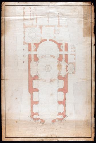 Planta principal y dependencias anejas de la iglesia de los santos Justo y Pastor (Madrid)