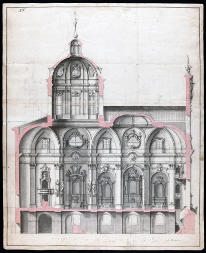 Sección longitudinal de la iglesia de los santos Justo y Pastor (Madrid)