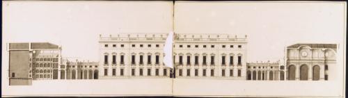 Sección transversal del conjunto del palacio e Riofrío (Segovia)