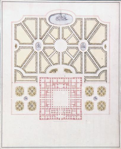 Plano general del palacio y jardines de Riofrío (Segovia)