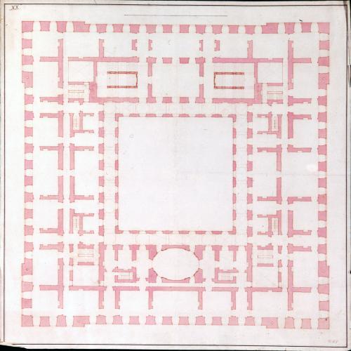 Planta principal del palacio de Riofrío (Segovia)