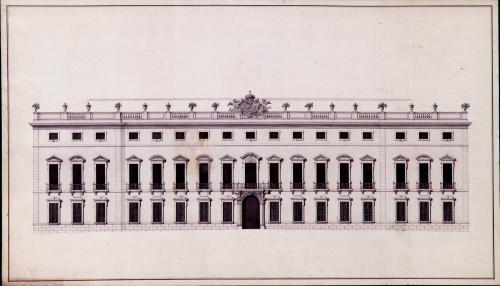 Alzado de la fachada principal del palacio de Riofrío (Segovia)