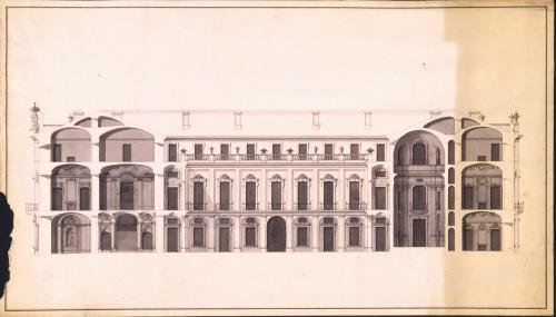 Sección longitudinal del palacio de Riofrío (Segovia)