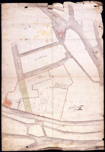 Plano de Madrid, entre las calles de Toledo, el Almendro y Segovia.