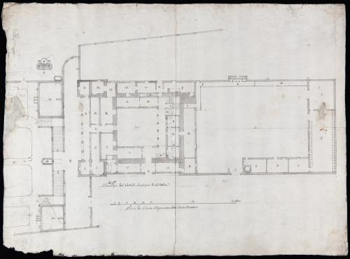 Planta baja del Castillo Arzobispal de Aldovea (San Fernando de Henares, Madrid)