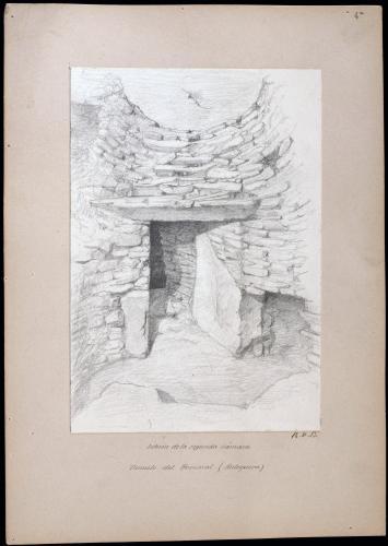 Túmulo del Romeral (Antequera). Interior de la segunda cámara.