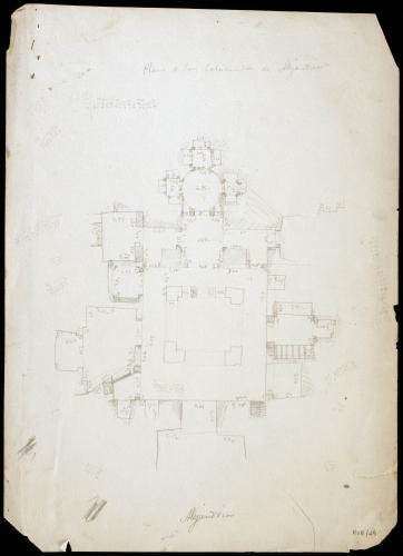 Plano de las Catacumbas de Alejandría (Egipto)