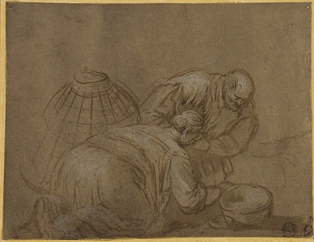 Dibujo de Jacopo Bassano en el Art Institute de Chicago
