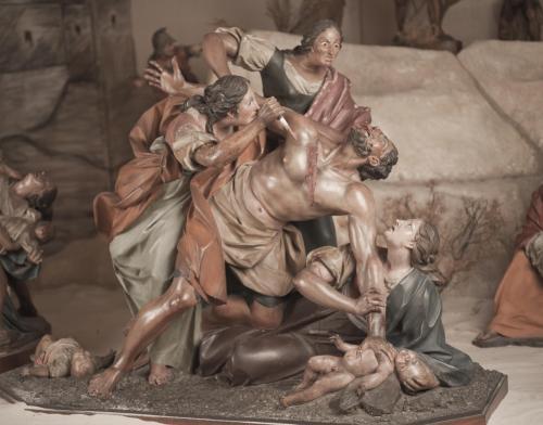 Mujeres atacando a un verdugo