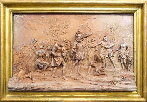 Desembarco de Colón en las Indias, en la isla de Salvador