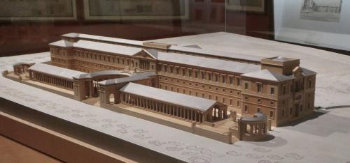 Maqueta de todo el edificio que se proyectó para Gabinete de Historia Natural y Academia de Ciencias según proyecto de D. Juan de Villanueva en 1785