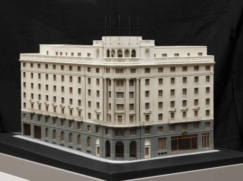 Maqueta del Hotel Wellington. 1ª fase