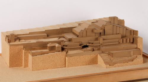 Maqueta del proyecto en su emplazamiento del Auditorio Manuel de Falla en Granada