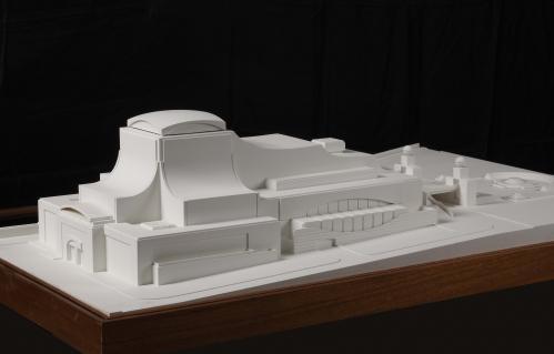 Maqueta de un proyecto para el Tanatorio municipal de la M-30, Madrid