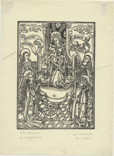 [La Virgen y el niño con Santa Dorotea y Santa Eulalia]