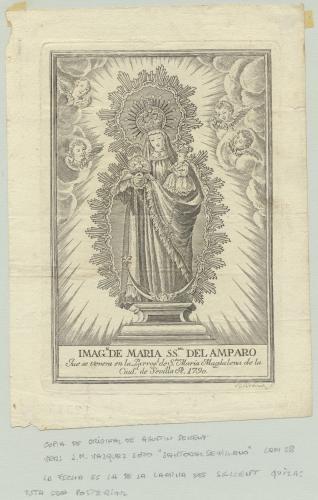 Maria SS<sup>MA</sup>. del Amparo