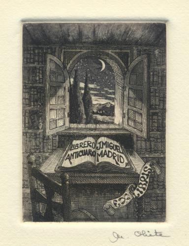 Ex Libris Librero Anticuario J. Miguel Madrid