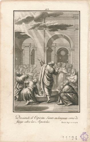 El Espíritu Santo desciende sobre los apóstoles