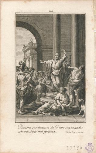 Primera predicación de San Pedro