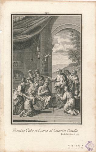 San Pedro bautiza al centurión Cornelio