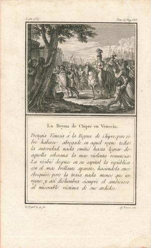 La reina de Chipre en Venecia