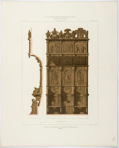 Burgos. Silleria de los legos en la cartuja de Miraflores