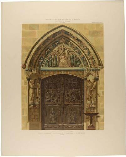 Burgos. Puerta llamada Procesional en el claustro de la Catedral