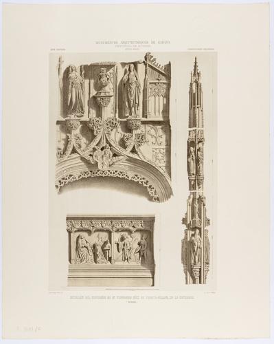 Burgos. Detalles del sepulcro de D. Fernando Díez de Fuente-Pelayo en la Catedral