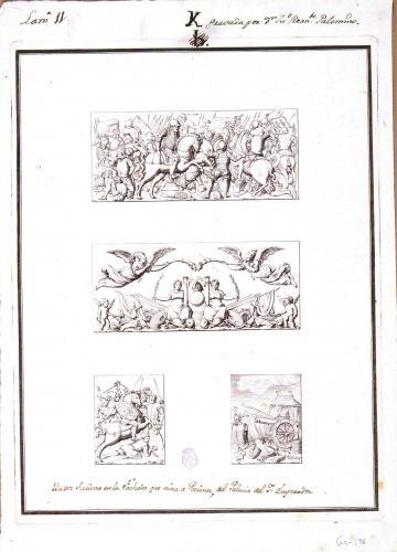 Baxos Relieves en la Fachada que mira a Poniente del Palacio del Sor. Emperador