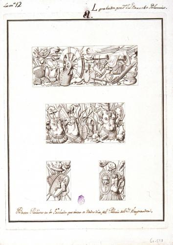 Baxos Relieves en la Fachada que mira a Mediodia del Palacio del Sr. Emperador