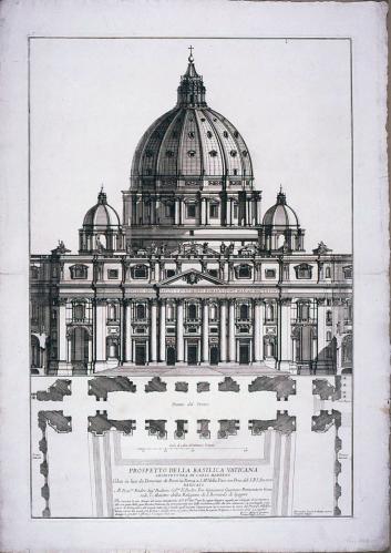Prospetto della Basilica Vaticana: architettura di Carlo Maderno