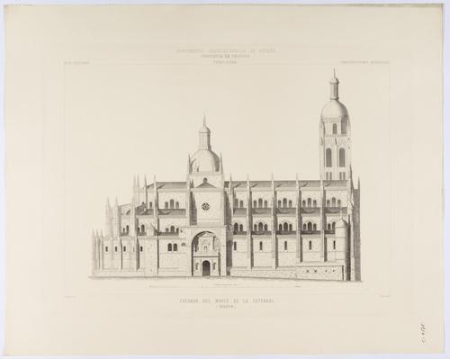 Segovia. Fachada del Norte de la Catedral