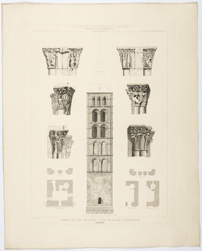 Segovia. Torre de San Esteban y sus detalles exteriores