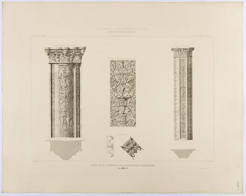 Salamanca. Detalle de la portada de la Universidad salmantina