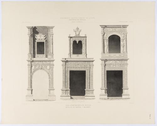 Sevilla. Casa Ayuntamiento de Sevilla. Detalles de puertas y balcones