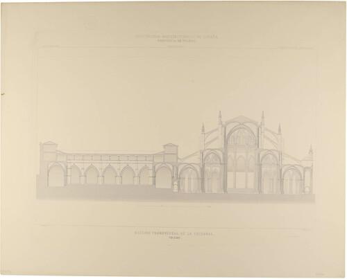 Toledo. Sección transversal de la Catedral