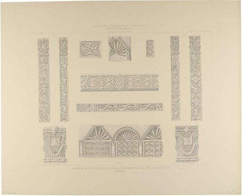 Badajoz. Mérida. Miembros arquitectónicos y fragmentos decorativos del atrio metropolitano