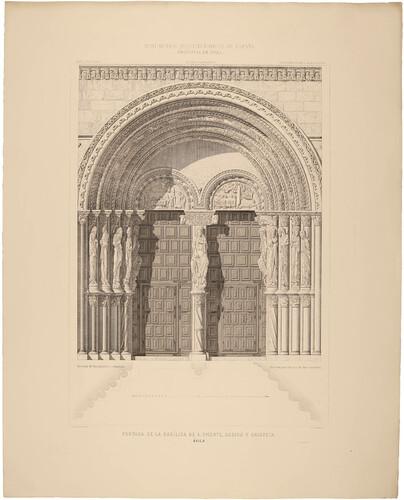 Ávila. Portada de la basílica de San Vicente, Sabina y Cristeta